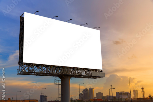 Fotomural  Blank billboard ready for use