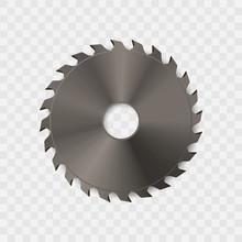 Circular Saw Blade Vector Icon.