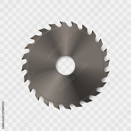Papel de parede Circular saw blade vector icon.