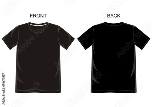 Vector T Shirt Template For Men With Color Black Yellow Red Blue Gray And White