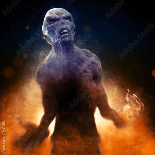 Fotografia Monster Demon 3D Illustration