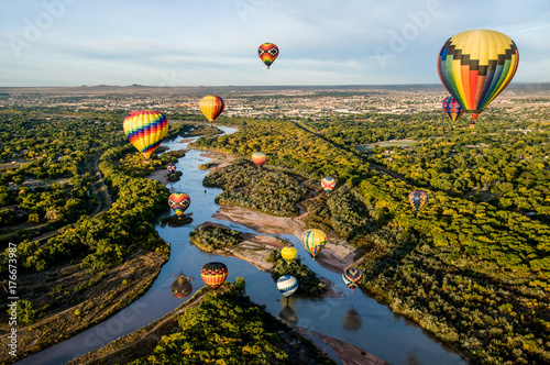Hot Air Balloons over the Rio Grande