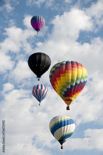 Plakat Cztery balony