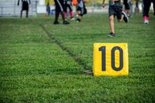 10 Yard Marker At A Youth Foot...
