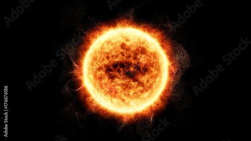 Sun Solar Flare Particles coronal mass ejections for background computer desktop Tapéta, Fotótapéta