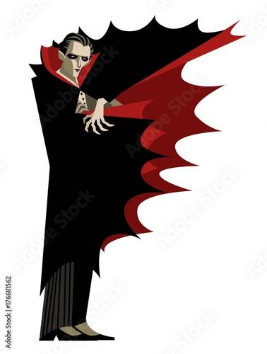Photo dracula vampire evil villain monster