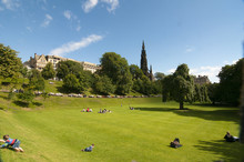Prince's Street Gardens Edinburgh With The Scott Monument In The Background