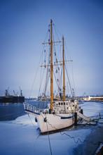 Sailing Ship On The Dock/Maste...