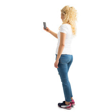 Woman Taking Picture With Phone