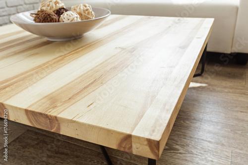 Fotografie, Obraz  modern wooden table in the loft interior