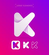 Vector Abstract Letter K Logo ...
