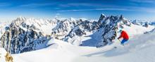 Skiing Vallee Blanche Chamonix...