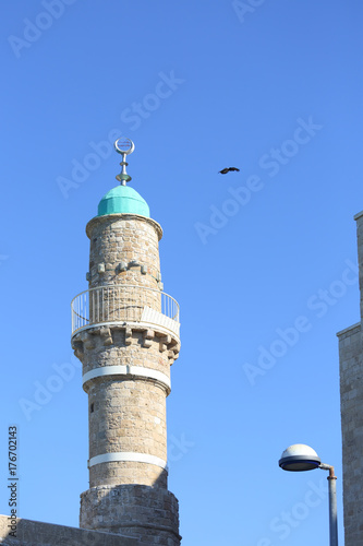 Fotografia  The Muslim Minaret in the Ancient City of Jaffa