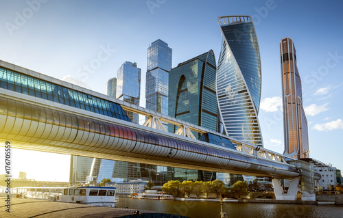 Moscow City International Business Center in Russia Canvas Print