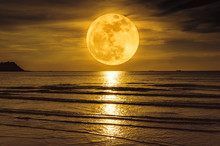 Super Moon. Colorful Sky With ...