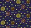 Animal vector seamless pattern. Sketch style background. Doodle image of hedgehogs, owls and beavers.