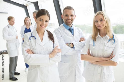 Plakat Grupa lekarzy