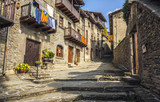 Fototapeta Na drzwi - Old stone street in the medieval town of Rupit, Catalonia