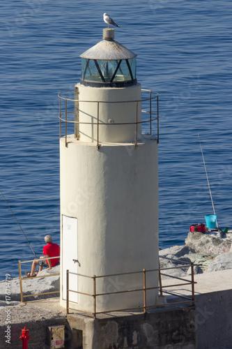 Plakat Biała latarnia morska