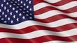 Flag of United States of America / USA (seamless loop)