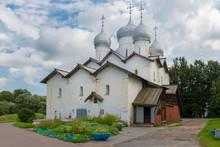 The Church Of Boris And Gleb In Carpenters. Veliky Novgorod. Russia.