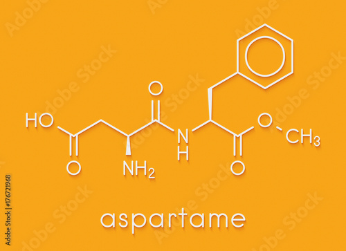 Aspartame artificial sweetener molecule (sugar substitute) Wallpaper Mural