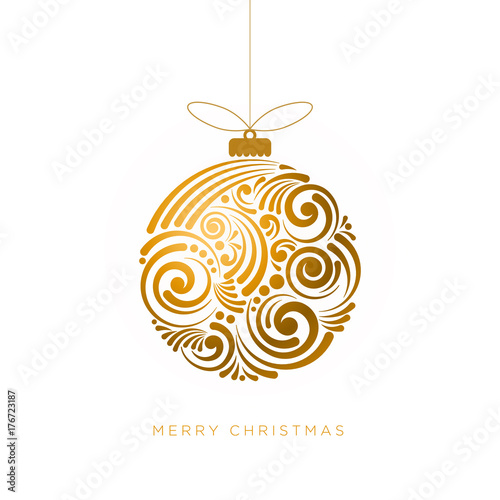 Deurstickers Bol Abstract Christmas Design