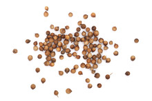 Coriander Seeds Isolated On Wh...