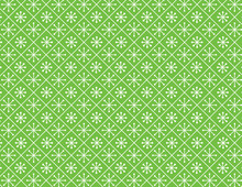 Lime Green Snowflake Background