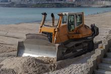 Bulldozer On The Beach