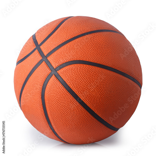 Spoed Foto op Canvas Bol basketball ball isolated on white