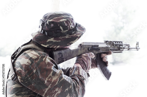 Soldier boonie hat aim target - Buy this stock photo and explore ... 6a2aca7c90c