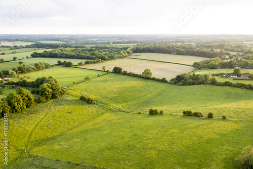 In de dag Pistache Aerial view of Buckinghamshire Landscape