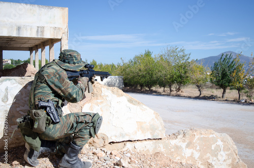 Sniper boonie hat aim target - Buy this stock photo and explore ... 9ab016f8890