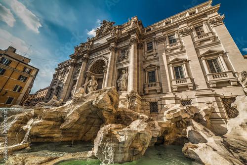 Zdjęcie XXL Światowej sławy Fontanna di Trevi w Rzymie