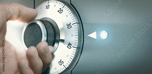 Locking or Unlocking a Safe Deposit Box