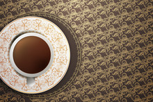 Coffee On Vintage Background