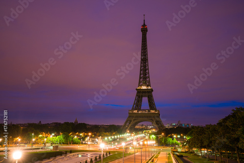 Foto op Aluminium Eiffeltoren Paris Tour Eiffel Eiffelturm Eiffeltower