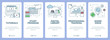 Vector modern thin line flat design tutorial concept vertical banners