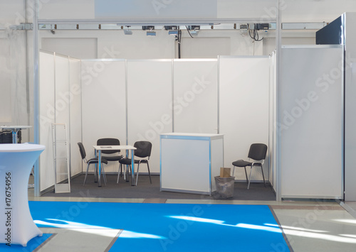 Fotografie, Obraz  Exhibition fair show company stand booth, empty blank
