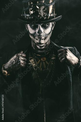 Ingelijste posters Halloween skeleton n tail-coat