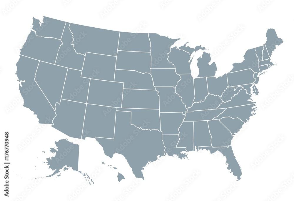 Fototapety, obrazy: United States of America map