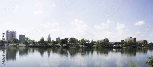 Augusta, Georgia Skyline with Savannah River. Canvas Print