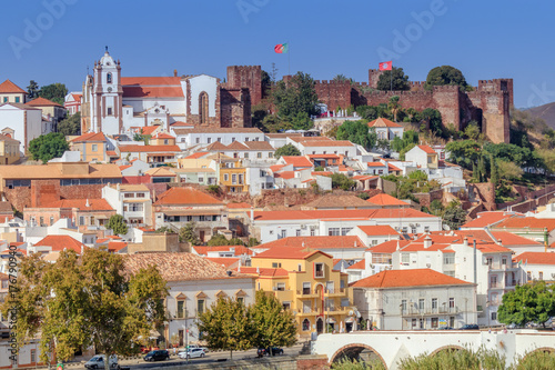 Vista da Vila de Silves no Algarve Portugal Wallpaper Mural