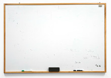 Dirty White Board Isolated On ...