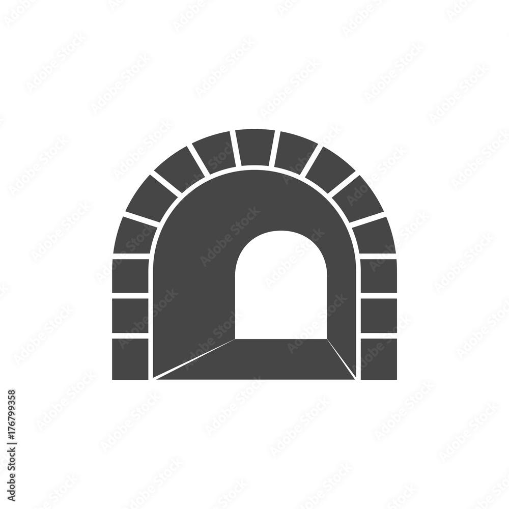 Fototapeta Road with tunnel icon