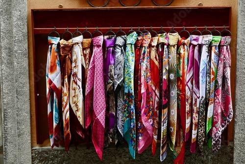 Fotografie, Obraz  Silk scarf display in Bellagio back street