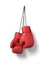 3d Rendering Of Two Red Boxing...