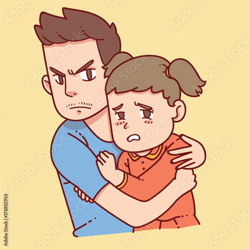 Father Protect Daughter Buy This Stock Illustration And Explore