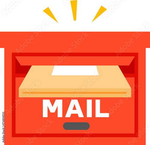 Canvas-taulu 郵便受けに投入される荷物
